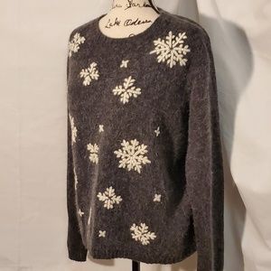 White Stag Snowflake/Holiday/Winter Sweater SZ Lrg